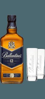 BALLANTINE'S 12 JAHRE + 2 GLÄSER GRATIS