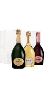 CHAMPAGNER RUINART - GESCHENKSET COLLECTION 3 FLASCHEN - BLANC DE BLANCS - ROSE - BRUT