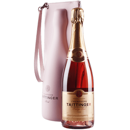 TAITTINGER PRESTIGE ROSE BRUT CHAMPAGNER- MIT COOL BAG