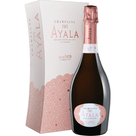 CHAMPAGNER AYALA - BRUT ROSE N°8 - MIT ETUI