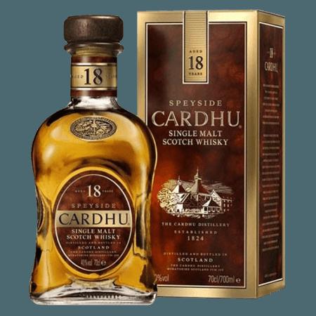 CARDHU 18 JAHRE SINGLE MALT WHISKY MIT ETUI
