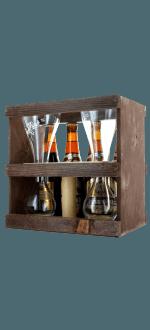 GESCHENKSET KWAK 4X33CL + 1 GLAS DUO - BRAUEREI BOSTEELS