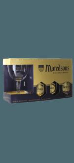 GESCHENKSET MAREDSOUS 3X33CL + 1 GLAS - ABBAYE DE MAREDSOUS