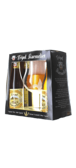 GESCHENKSET TRIPLE KARMELIET 4X33CL + 1 GLAS - BRAUEREI BOSTEELS