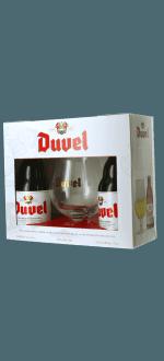 GESCHENKSET DUVEL 2*33CL + 1 GLAS - BRAUEREI DUVEL MOORTGAT