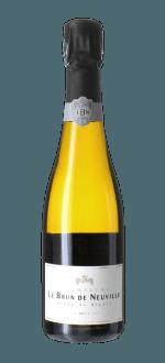 CHAMPAGNER LE BRUN DE NEUVILLE - BRUT CUVEE CHARDONNAY - Halbe Flasche