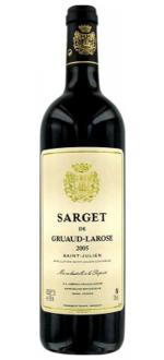 SARGET DE GRUAUD LAROSE 2012 - ZWEITWEIN CHATEAU GRUAUD LAROSE