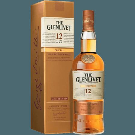 THE GLENLIVET FIRST FILL 12 JAHRE ALT - MIT ETUI
