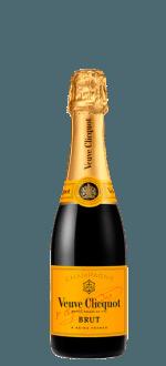 VEUVE CLICQUOT - BRUT CARTE JAUNE - CHAMPAGNER - HALBE FLASCHE 0.375 L