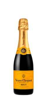 VEUVE CLICQUOT - BRUT YELLOW LABEL - CHAMPAGNER - HALBE FLASCHE 0.375 L