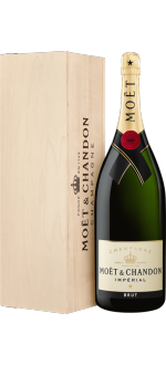 MOET CHANDON CHAMPAGNER - BRUT IMPERIAL - METHUSALEM 6L IN HOLZKISTE