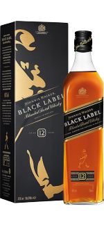 JOHNNIE WALKER BLACK LABEL 12 JAHRE - MIT ETUI