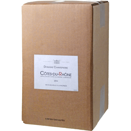 BAG-IN-BOX - WEINSCHLAUCH - COTES DU RHONE 2018 - DOMAINE CHANTEPIERRE