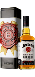BOURBON JIM BEAM WHITE - GESCHENKSET METAL