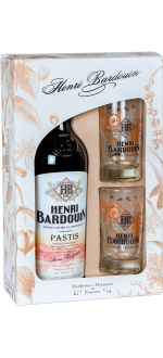 GESCHENKSET PASTIS HENRI BARDOUIN + 2 GLÄSER