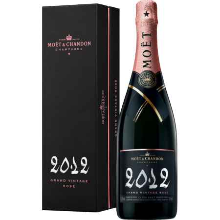CHAMPAGNER MOET & CHANDON - GRAND VINTAGE ROSE 2012 - IN GESCHENKBOX