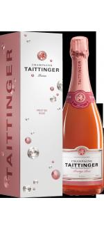 CHAMPAGNER TAITTINGER BRUT PRESTIGE ROSE - MIT ETUI DIAMANT