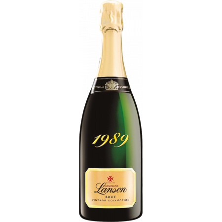 CHAMPAGNER LANSON - VINTAGE COLLECTION 1989 - HOLZKISTE