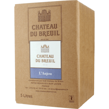 BAG-IN-BOX - WEINSCHLAUCH 5L - ANJOU ROUGE 2019 - CHATEAU DU BREUIL