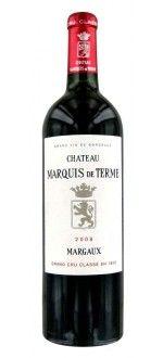 Chateau MARQUIS DE TERME - 4eme cru classe 2008 ( France-Bordeaux-Margaux AOC-Rouge - 0.75l )