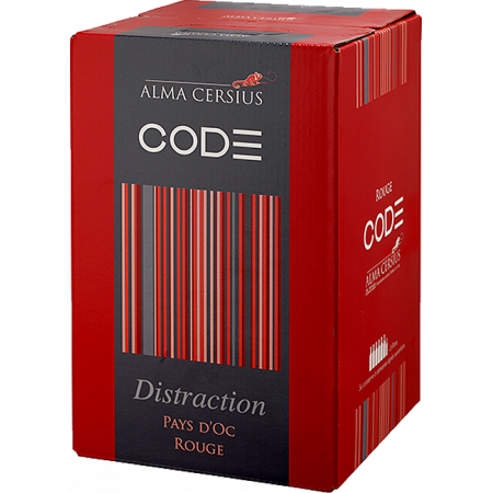 BAG-IN-BOX - WEINSCHLAUCH 3L - ROUGE DISTRACTION - ALMA CERSIUS