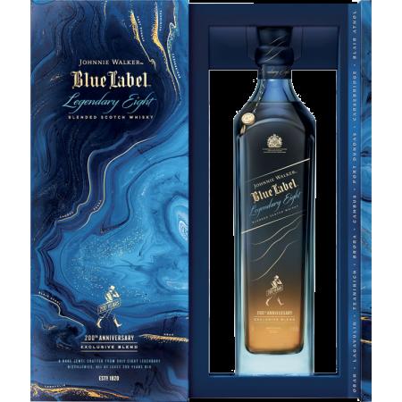 JOHNNIE WALKER - BLUE LABEL LEGENDARY EIGHT - EN GESCHENKSET