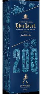 JOHNNIE WALKER BLUE LABEL - EN ETUI EDITION LIMITÉE 200 EME ANNIVERSAIRE