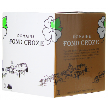 BAG-IN-BOX - WEINSCHLAUCH 3L - IGP ROSE 2020 - DOMAINE FOND CROZE
