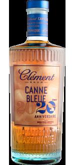 RUM CLÉMENT - CANNE BLEUE 20EME ANNIVERSAIRE - RUM VIEUX AGRICOLE