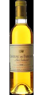 HALBE FLASCHE CHÂTEAU DE FARGUES 1998