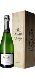CUVEE OUVRAGE GRAND CRU - CHAMPAGNER LALLIER - HOLZKISTE
