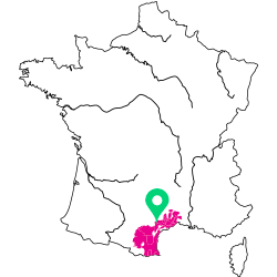 Carte de l'appellation Languedoc-Roussillon